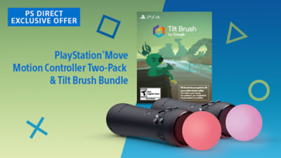 Exclusive PS Direct Offer, PS VR Move Motion Controller Two-Pack & Tilt Brush Bundle Available Now