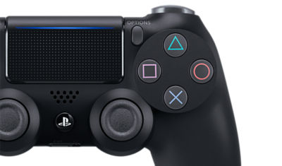 Image of the PlayStation 4 DUALSHOCK4 Jet Black Wireless Controller