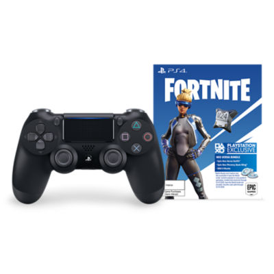 DUALSHOCK®4 Wireless Controller for PS4™ - Jet Black + Fortnite Neo Versa bundle