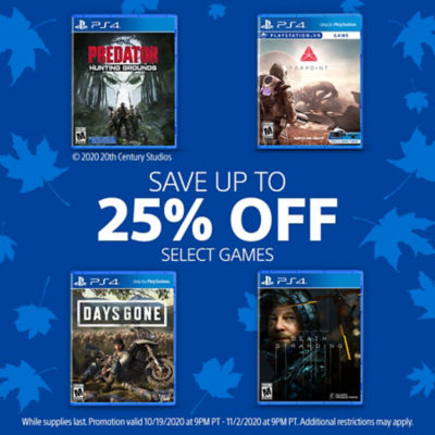 Save up to 25% off select games