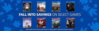 Fall into savingings on select games