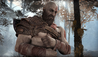 God of War Kratos covering his wrists with wraps