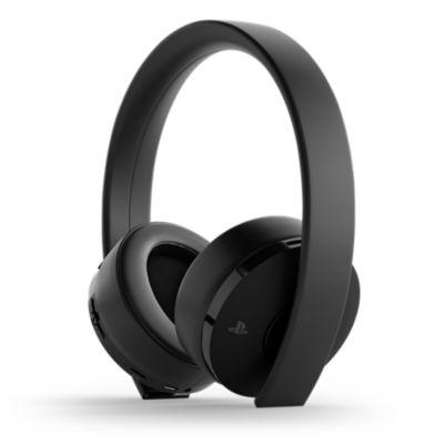 Gold Wireless Headset – Black