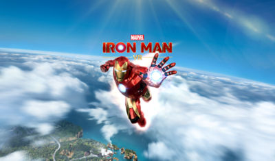 PS VR Marvel's Iron Man flying through the air