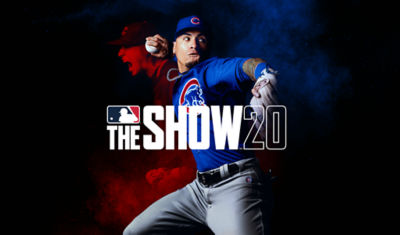 PS4 MLB The Show 20 game with man throwing a baseball