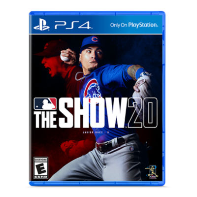 PS4 MLB The Show 20 game case featuring Javier Baez the shortstop for the Chicago Cubs getting ready to throw the ball