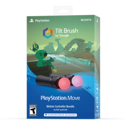 PlayStation®Move Motion Controller Two-Pack & Tilt Brush Bundle Thumbnail 2