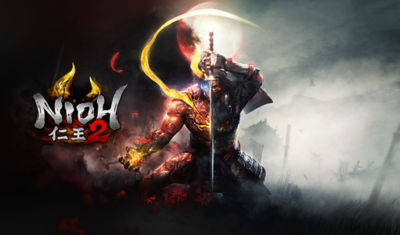Nioh 2 main character in fighting stance