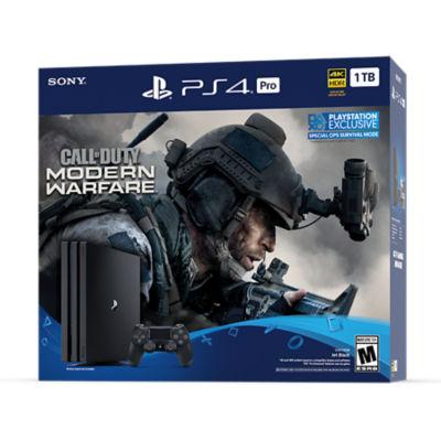 PlayStation 4 Pro 1TB Call of Duty®: Modern Warfare® Console Bundle Thumbnail 2