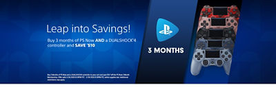 Banner with a link to our Deals landing page featuring PS Now and DS4 controller offer