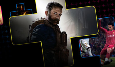 PlayStation Plus image displaying multiple characters from different video games
