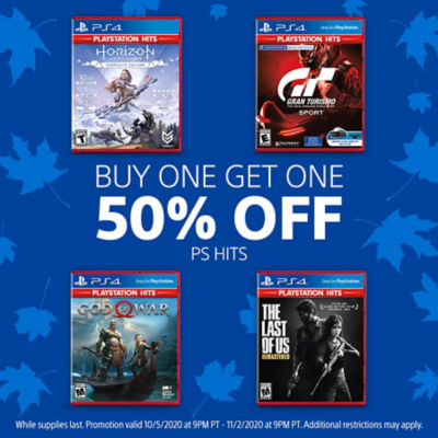 Buy One, Get One 50% off PS Hits