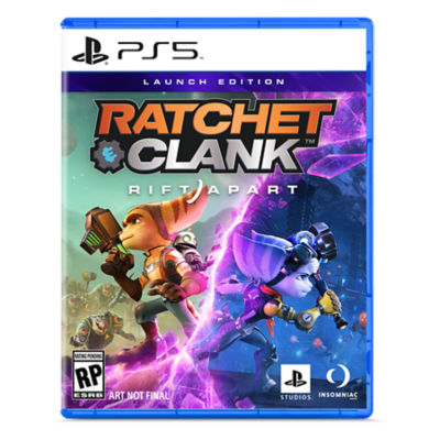 PS5 Ratchet & Clank: Rift Apart case with showing Ratchet, Clank and the new female Lombax.