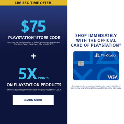 Sony Rewards PlayStation Card Benefits. Get $75 PlayStation Store Code after your first purchase plus 5 times points when you shop directly from PlayStation.