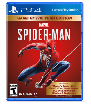 PS4 Marvel's Spider-Man physical game case