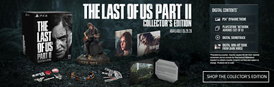 PS4 The Last of Us Part II Collector's Edition beauty shot showing the contents of the bundle