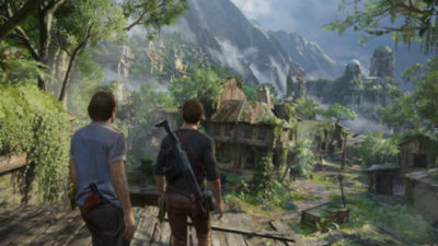 2 minute 27 second video trailer highlighting Uncharted 4 A Thief's End story on PS4