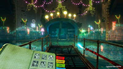 First-person VR mode lets you add bright a vivid artwork to the walls of an underground station using a magic paintbrush.