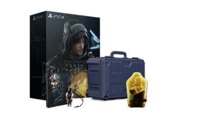 PS4 Death Stranding Collector's Edition image of everything included
