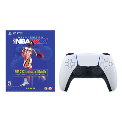 DualSense PS5 Controller and NBA 2K21 Jumpstart Bundle