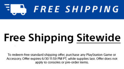 Free standard shipping sitewide. Does not include pre-order items and consoles. Ends 6/30