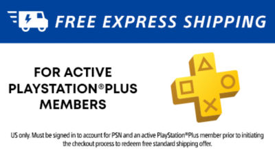 Free Express Shipping for active PS Plus Members