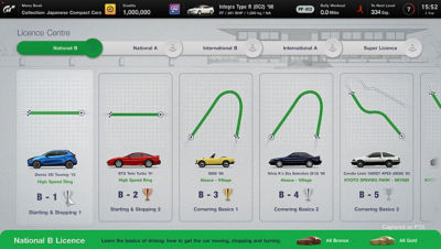 Image from Gran Turismo 7 on PS5 at the license center