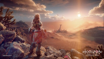 PS5 Horizon Forbidden West image with Aloy looking out at the Vista