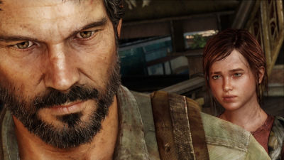 PS4 The Last of Us Remastered screenshot featuring Joel and Ellie