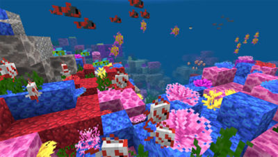 PS4 Minecraft Starter Collection screenshot featuring fish under the sea