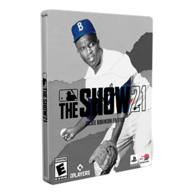 PS4 MLB the Show 21 Jackie Robinson Edition game case featuring Jackie Robinson