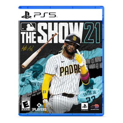 PS5 MLB the Show 21 game case featuring Fernando Tatis Jr