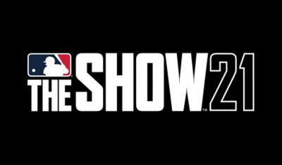 MLB The Show 21 logo on black background