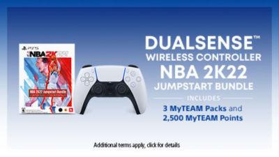 DualSense™ Wireless Controller + NBA 2K22 Jumpstart Bundle