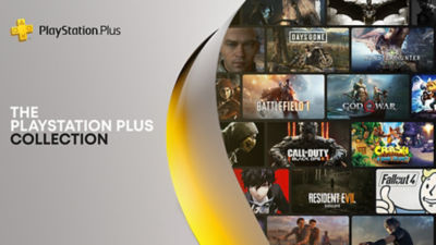 A collage of games available on the PlayStation Plus Collection.