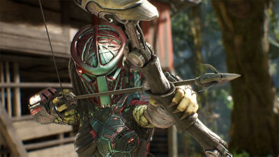 PS4 Predator Hunting Grounds screenshot featuring the Predator aiming with a bow
