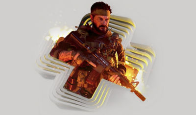 PlayStation Plus image displaying Call of Duty Black OPs Soldier