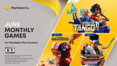PlayStation Plus free games for the month, featuring Operation: Tango, Star Wars Squadrons and Virtua Fighter 5 Utlimate Showdown