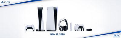PS5 Hardware shown. Play Has No Limits. Nov 12, 2020