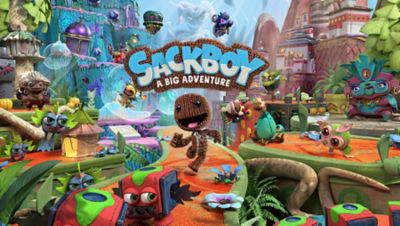Image of Sackboy with his friends in Craftworld from the PS5 Sackboy: A Big Adventure game
