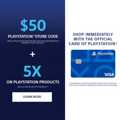 Sony Rewards PlayStation Card Benefits. $50 PlayStation Store Code plus 5 times points when you shop directly from PlayStation.