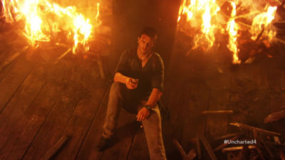 45 second video trailer highlighting Uncharted 4 A Thief's End on PS4 with accolades